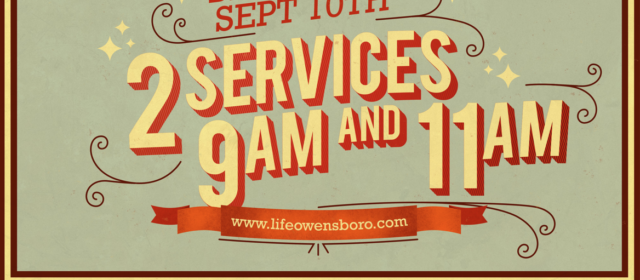 2 Services coming September 10th!